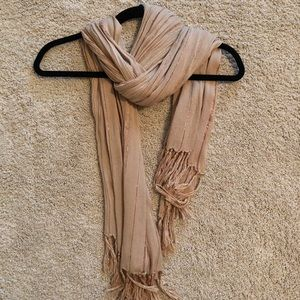 Tan and rose gold scarf